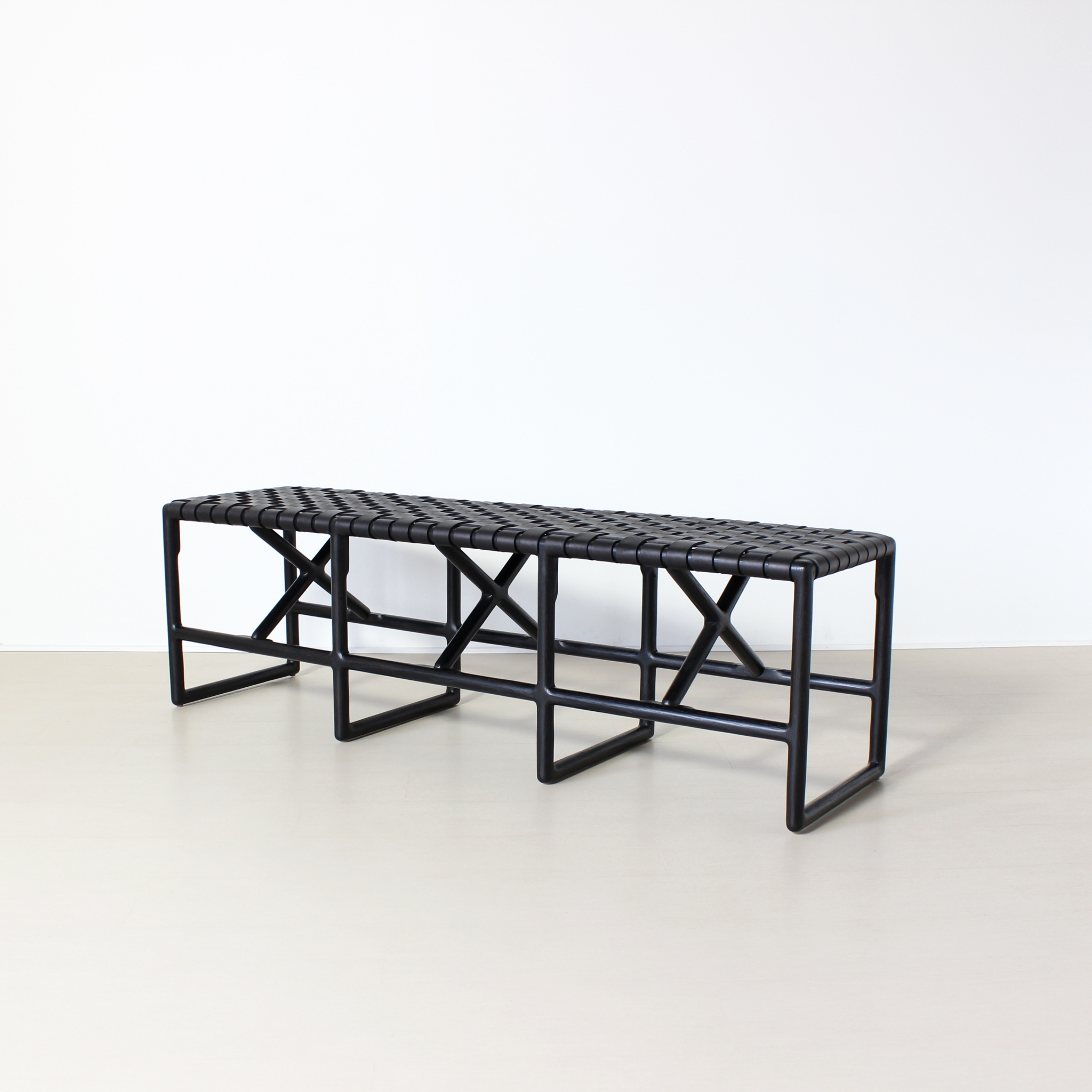 Enjoyable Montgomery Bench In Stock Black Inzonedesignstudio Interior Chair Design Inzonedesignstudiocom